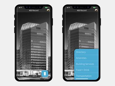 400 Record + iPhone X app design app product design ios11 real estate ui ux iphone x