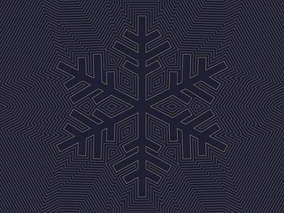 Snowflake gold navy blue linework line art illustration winter christmas holiday card snowflake