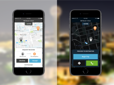 Driver App ios product ux ui uber driver navigation maps