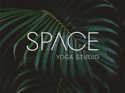 Space yoga logo yoga studio logo minimalism typography branding yoga studio logotype wordmark logo