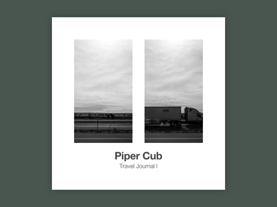Travel Journal I typography rpm challenge monochrome helvetica minimalism music album album art