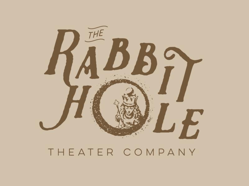 The Rabbit Hole   Logo 19th century turn of the century 1900s 1800s beige brown identity vintage flat typography branding vector logo design