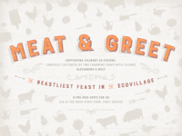 Meat &  Greet | Poster Design