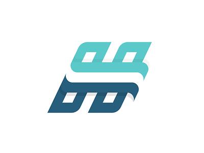 HuronMed vector logotype logomark monogram h blue teal medical typography branding logo design