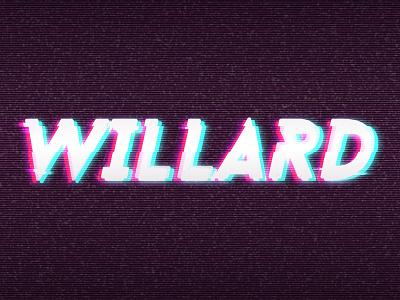 Willard branding 2018 vector rgb glitch illustration branding willard