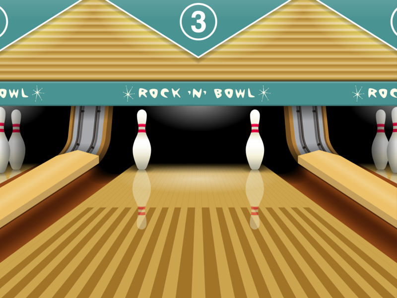 Retro bowling alley by Will Clark on Dribbble
