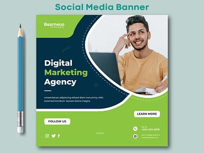 Social Media Banner ads illustration design web banner social media banner social media post design marketing banner instagram banner facebook banner social media post