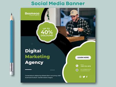 Social Media Banner digital marketing ads design ads design web banner social media banner social media post design marketing banner instagram banner facebook banner social media post