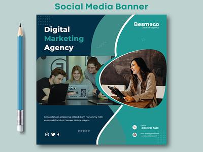 Social Media Banner social media facebook banner instagram banner marketing banner post design web banner branding design social media banner social media post