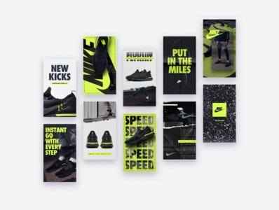 Nike Epic React Flyknit / IG Stories instagram stories shoes nike los angeles design studio creative agency design direction visual design art direction design creative direction