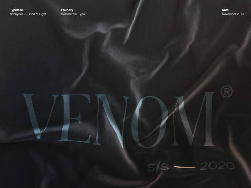 Venom typography branding los angeles design studio creative agency design direction visual design art direction design creative direction