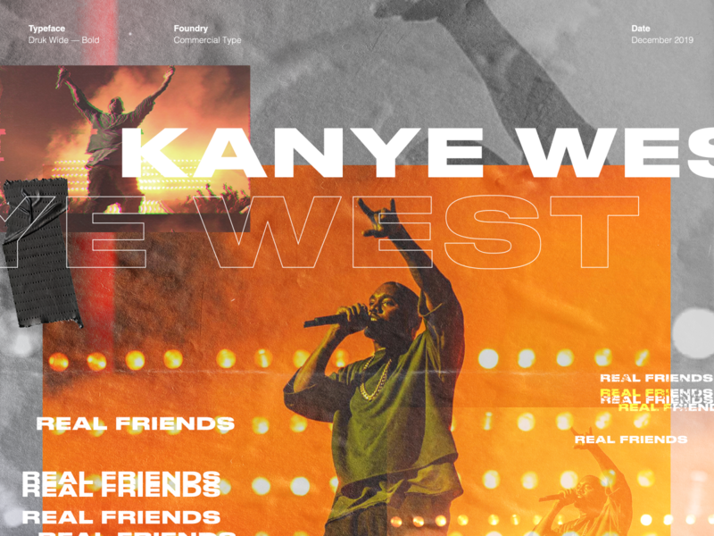 Kanye / Type Study hiphop rapper kanyewest typography los angeles design studio creative agency design direction visual design art direction design creative direction