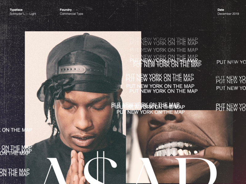 A$AP Rocky / Type Study hiphop typography los angeles design studio creative agency design direction visual design art direction design creative direction