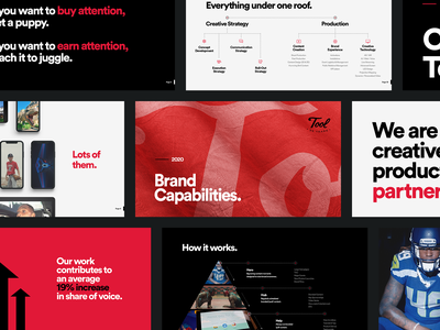 Tool Capabilities Deck pitch deck design los angeles design studio creative agency creative strategy design direction visual design art direction design creative direction