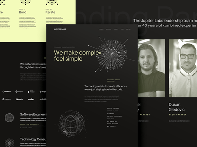JUPITER LABS • Site Design design studio creative agency interactive brand development creative strategy ux design direction ui visual design creative direction