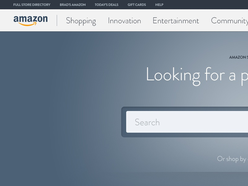 Amazon Redesign Concept creative direction web design ux ui visual design
