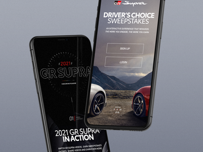 Toyota 2021 GR Supra los angeles design studio creative agency creative strategy ux design direction ui visual design design creative direction