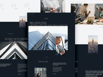Brevan Howard — Concept Direction web design interactive brand development los angeles design studio creative agency ux ui design direction creative direction