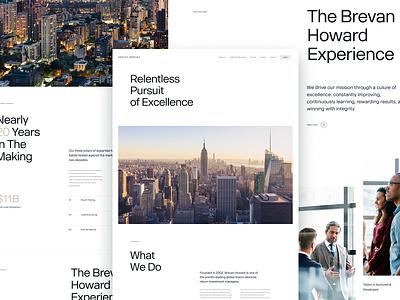 Brevan Howard —Concept Direction web design interactive brand development los angeles design studio creative agency ux ui design direction creative direction
