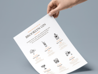 Brooklyn Gin Branding Direction (product one sheet)
