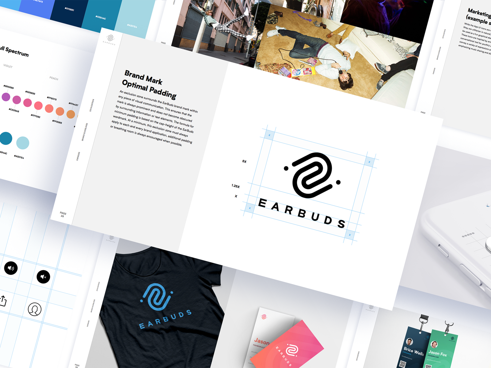 EarBuds Brand Guidelines by Brad Burke for I D O L on Dribbble