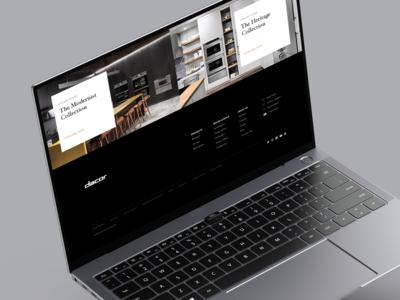 Dacor.com Redesign