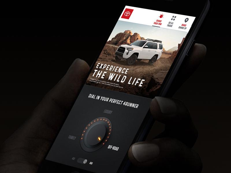 Toyota Trucks Experience los angeles mobile interactive design studio creative agency design direction creative strategy visual design ux ui art direction design creative direction
