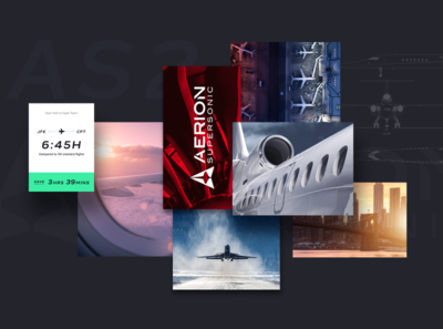 Aerion Supersonic Moodboard los angeles design studio creative agency design direction creative strategy visual design art direction design creative direction