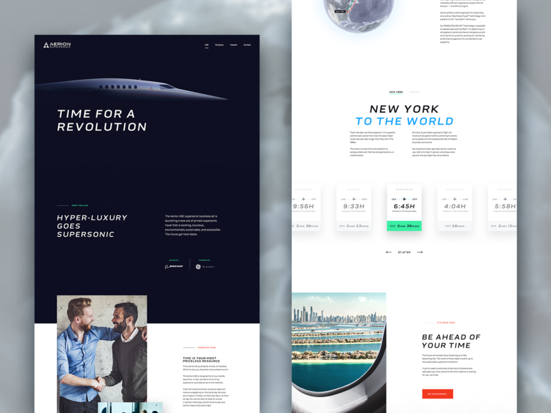 Aerion Supersonic • AS2 Page web design los angeles design studio creative agency design direction creative strategy ux ui design creative direction