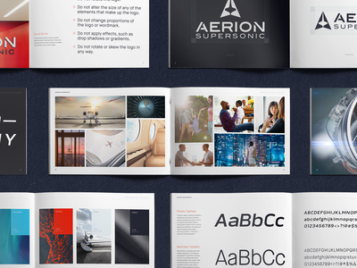 Aerion Supersonic • Brand Book design direction branding los angeles design studio creative agency brand guidelines brand design creative strategy visual design design creative direction