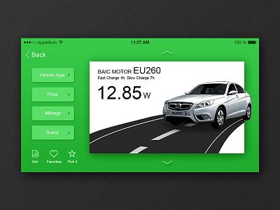 Exercise screen screen exercise ui green car