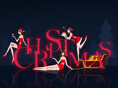 Merry Christmas,everybody! happy red girl christmas
