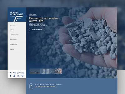Frantoio Fondovalle group webdesigner webdesign italy website uidesign ui road construction infrastructure construction