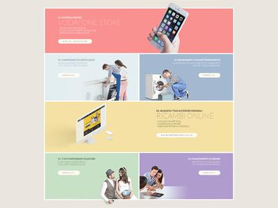 pastel colours Ui for appliances online shop technology appliances eshop visual ecommerce online shop ui pastel colours