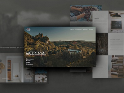 Sotto i Sassi - exclusive Italian bed and breakfast resort layout minimal concept website hotel