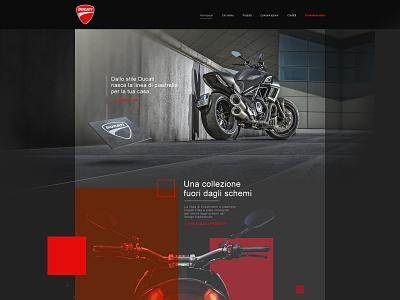 Ducati Tiles website web design webdesign inspiration tiles ducati ui website