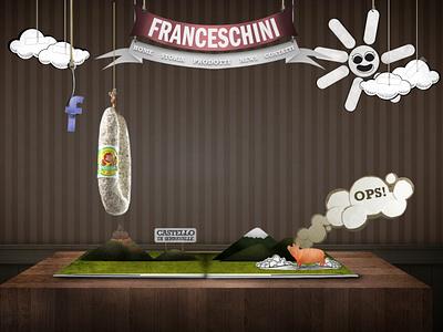 Salumificio Franceschini Bologna webdesigner webdesign food inspiration food website food salami salumi bologna franceschini salumificio