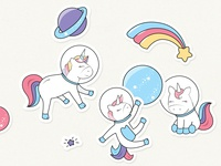 Cute Unicorn Stickers