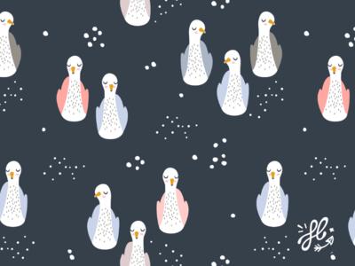 Nordic swans pattern