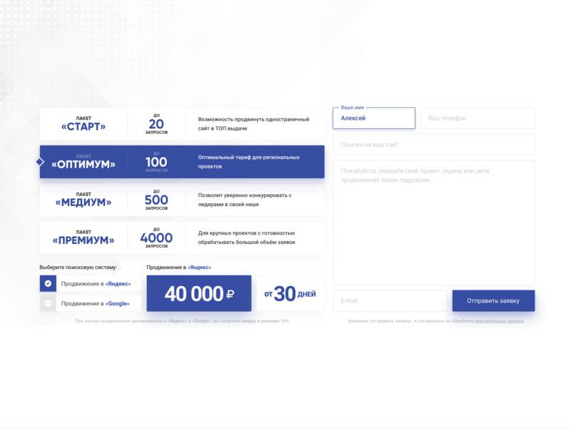 Application form ux ui design application ui art ui form design form inputs text area buttons selected seo seo company web  design light blue blue info card order