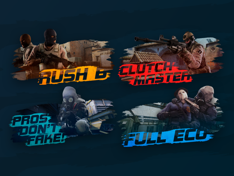 CS:GO Posters pros dont fake rush b clutch master full eco posters cs:go counterstrike game design game art game colors rush texture text esports cyber csgo images illustration art