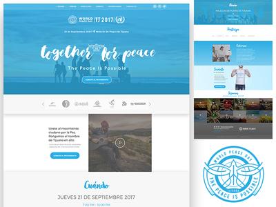 World Peace Day - TJ  2017 sd tj san diego tijuana branding ux web ui blue world peace day peace onu