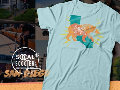 SoCal Scooter Co. tshirt branding scooters cal sd san diego california socal