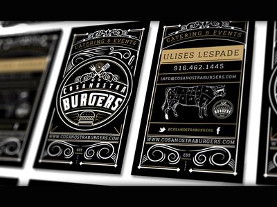 Cosa Nostra Burgers logo branding argentina catering argentinian cuisine burgers grill