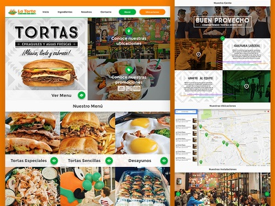 La Torta Plaza tj website food tijuana ui ux react development web