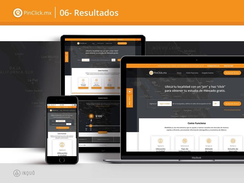 Pinclick.mx mexico laravel ux ui logo design brand san diego luquin tijuana