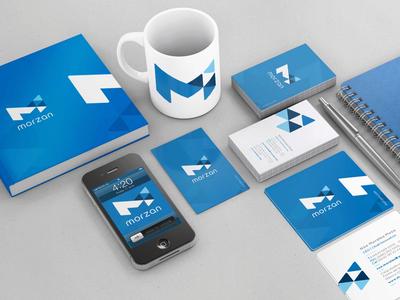 Morzan.com logo design san diego branding brand luquin
