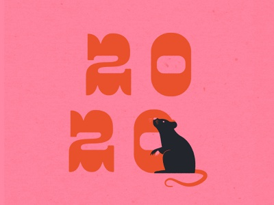 Vectober 6 // Rodent feminine texture vintage illustration type rat rodent new year chinese new year chinese