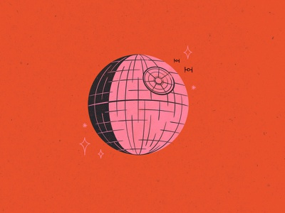 Vectober 18 // Trap death star star wars vectober inktober trap feminine texture vintage illustration