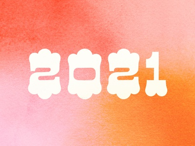 We made it. new year 2021 gradient illustration